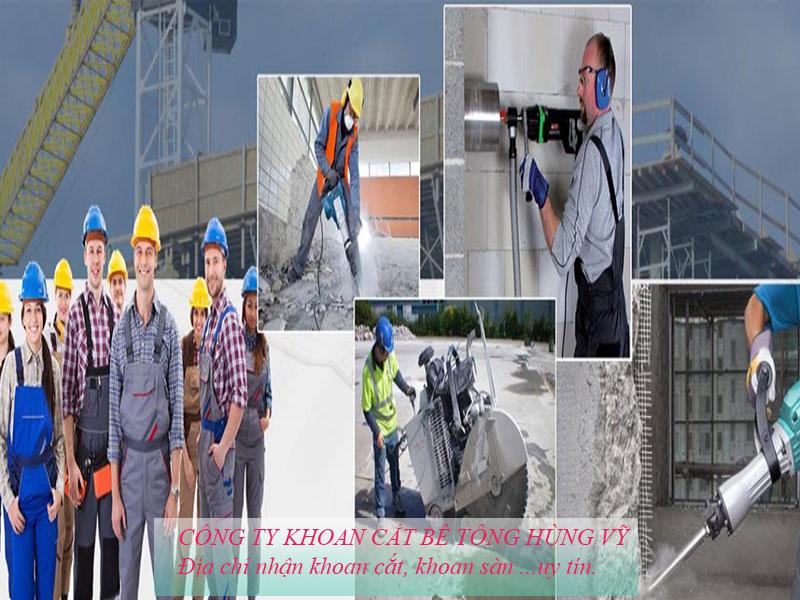 Dịch vụkhoan cắt bê tông Hùng Vỹnhanh chóng - uy tín chuyên nghiệp